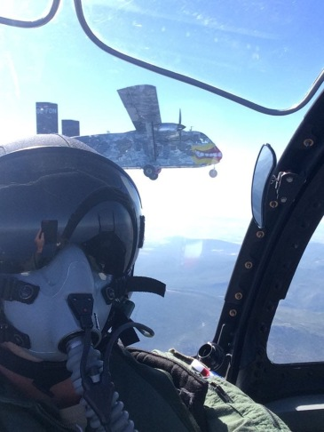 What it looks like for the pilots flying behind or next to us.